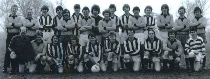 The staff vs. school soccer teams, Easter 1981