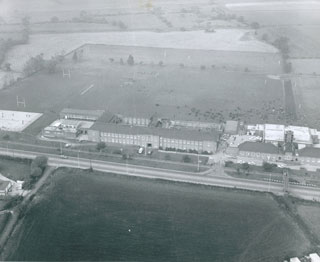 This aerial photograph of Helsby was presented to the school after a Naval Air Command visit in October 1971