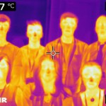 A thermal image of the Helsby High School Biology Competition team.