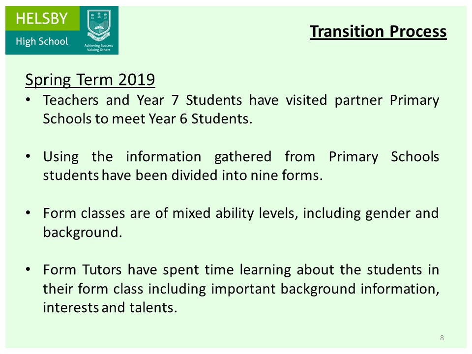 Key Stage 2-3 Transition - Helsby High School